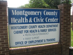 MCHD sign in front of building